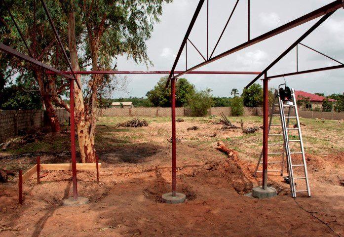 Gradnja karierno-izobraževalnega centra Gambija, foto: Robert Leder