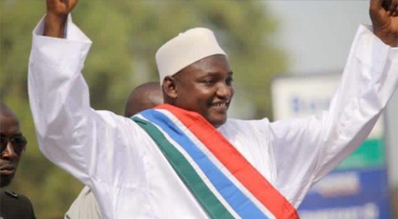 Nov predsednik Republike Gambije, g. Adama Barrow; Vir:  Freedom newspaper