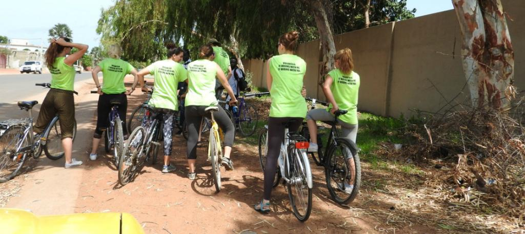 Cycling Gambia Volunteers