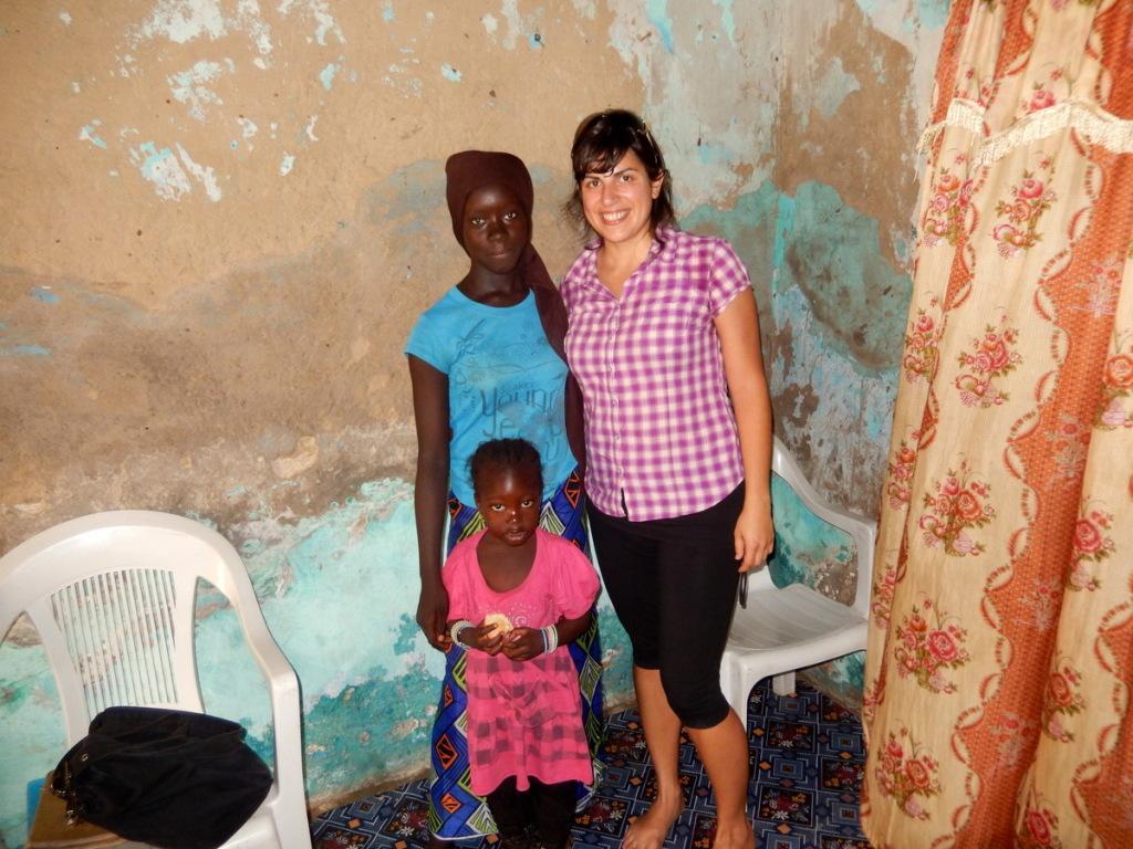 Teja Samsa in njena varovanka Ndey CoCo Sarr